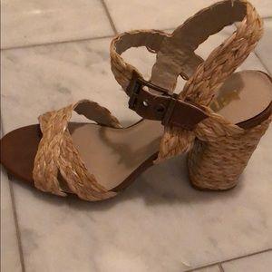 MIA raffia natural fiber heels 💗